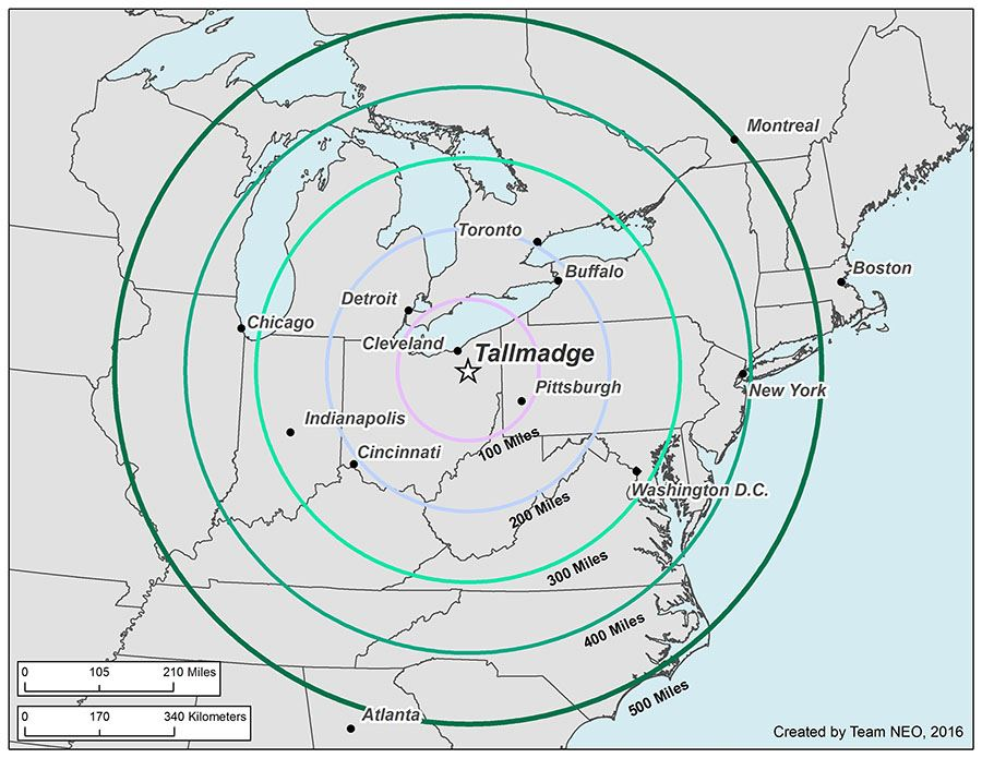 Tallmadge Miles Rings Map